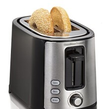 Hamilton Beach 22633 Beach Extra-Wide 2 Slice Slot Toaster, Black