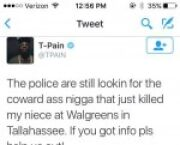 Rapper T- Pain's Niece Fatally Stabbed At Walgreens Near FSU Campus