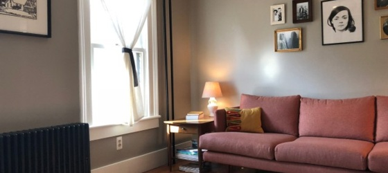 Spacious, sunny, beautiful 2BR single-family home furnished sublet in the heart of Kingston's historic Rondout