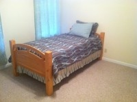 Solid Pine Twin Bed Set