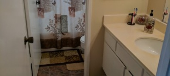 One bedroom with one full bathroom with lots of parking and free wfi and free dish net work services included!